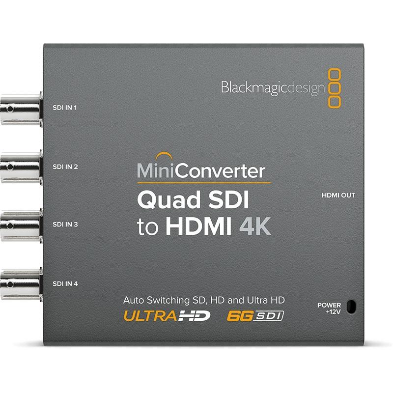 Mini Converter Quad SDI to HDMI 4K